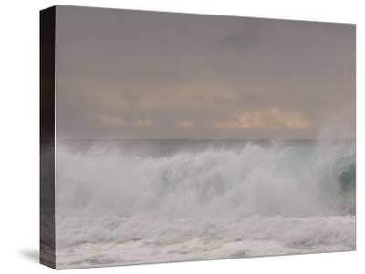 Waves Breaking on the Beach in Carmel, California-Phil Schermeister-Stretched Canvas Print