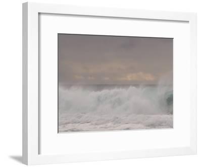 Waves Breaking on the Beach in Carmel, California-Phil Schermeister-Framed Photographic Print