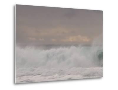Waves Breaking on the Beach in Carmel, California-Phil Schermeister-Metal Print