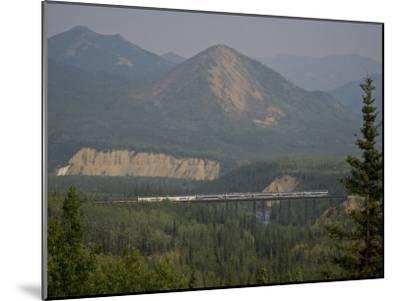 Alaska Railroad on a Tall Trestle Bridge-Michael Melford-Mounted Photographic Print