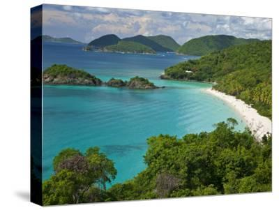 Turquoise Water at Trunk Bay, St. John, Usvi-Michael Melford-Stretched Canvas Print