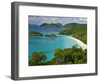 Turquoise Water at Trunk Bay, St. John, Usvi-Michael Melford-Framed Photographic Print