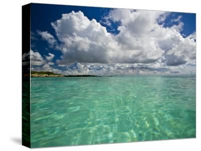Pristine Turquoise Water Off the Coast of Aruba-Michael Melford-Stretched Canvas Print