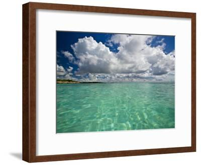 Pristine Turquoise Water Off the Coast of Aruba-Michael Melford-Framed Photographic Print