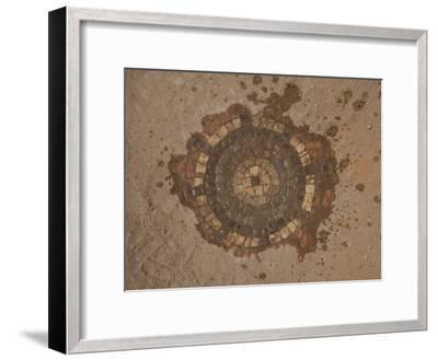 Mosaic, Preserved with Sand, Adorns Hisham's Palace in Jericho-Michael Melford-Framed Photographic Print