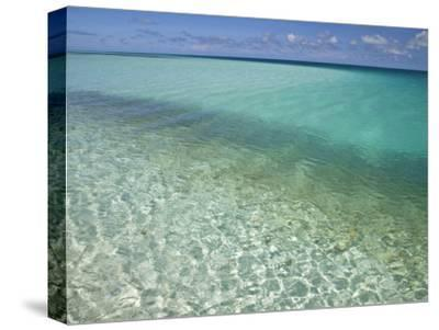 Clear Turquoise Water in the Seychelles Islands-Michael Melford-Stretched Canvas Print