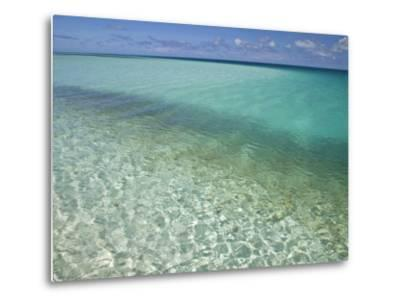 Clear Turquoise Water in the Seychelles Islands-Michael Melford-Metal Print