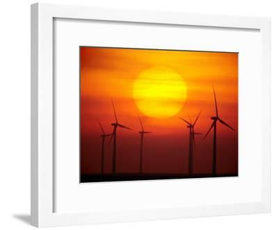 Elk River Wind Project Is a 150 Megawatt Wind Energy Project-Mark Thiessen-Framed Photographic Print