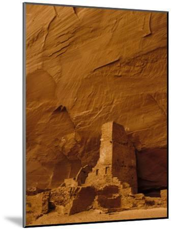 Pueblo Indian Antelope House Ruins at the Base of a Cliff-Ralph Lee Hopkins-Mounted Photographic Print