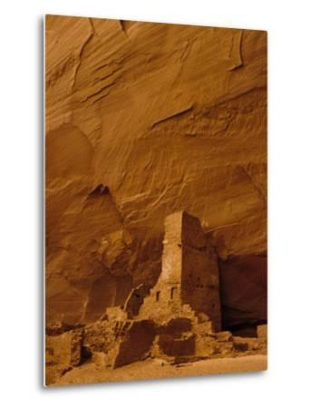 Pueblo Indian Antelope House Ruins at the Base of a Cliff-Ralph Lee Hopkins-Metal Print