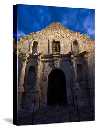 Front Facade of the Alamo-Richard Nowitz-Stretched Canvas Print