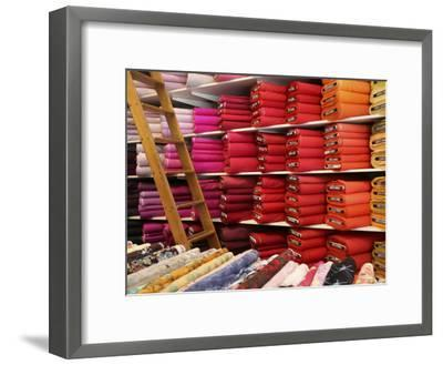 Bolts of Fabric on the First Floor of a Fabric Store on Union Square-Richard Nowitz-Framed Photographic Print