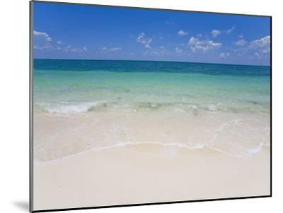 Crystal Clear Water and Blue Skies at a Beach in the Bahamas-Mike Theiss-Mounted Photographic Print