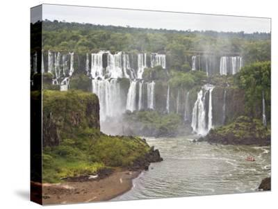 Below Normal Amount of Water Falling at the Famous Iguacu Falls-Mike Theiss-Stretched Canvas Print