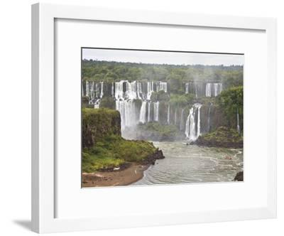 Below Normal Amount of Water Falling at the Famous Iguacu Falls-Mike Theiss-Framed Photographic Print