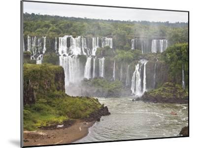 Below Normal Amount of Water Falling at the Famous Iguacu Falls-Mike Theiss-Mounted Photographic Print