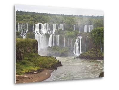 Below Normal Amount of Water Falling at the Famous Iguacu Falls-Mike Theiss-Metal Print