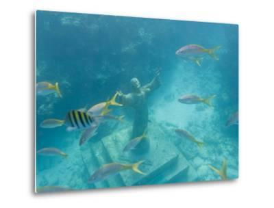 Christ of the Deep Statue in a Coral Reef State Park in the Keys-Mike Theiss-Metal Print
