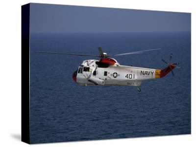 Helicopter from Pensacola Naval Station over the Gulf of Mexico-National Geographic Photographer-Stretched Canvas Print