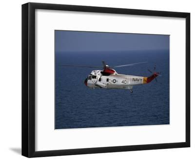 Helicopter from Pensacola Naval Station over the Gulf of Mexico-National Geographic Photographer-Framed Photographic Print