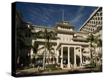 Historic Moana Hotel in Waikiki, Built before 1920-Paul Chesley-Stretched Canvas Print