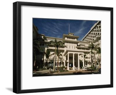 Historic Moana Hotel in Waikiki, Built before 1920-Paul Chesley-Framed Photographic Print