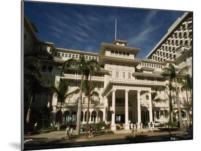 Historic Moana Hotel in Waikiki, Built before 1920-Paul Chesley-Mounted Photographic Print