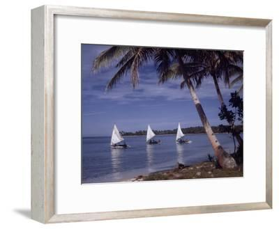 Islanders Visit Various Atolls to Sell and Purchase Goods-W^ Robert Moore-Framed Photographic Print