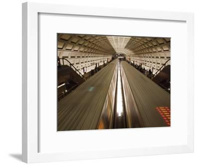 Two Trains Passing in the Dupont Circle Metro Station-Rich Reid-Framed Photographic Print