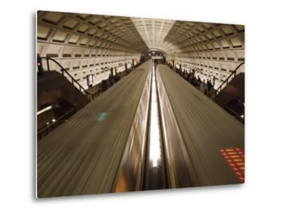 Two Trains Passing in the Dupont Circle Metro Station-Rich Reid-Metal Print