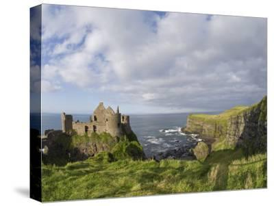Ruins of 13th Century Medieval Dunluce Castle-Rich Reid-Stretched Canvas Print