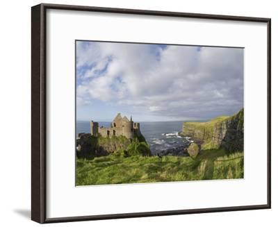 Ruins of 13th Century Medieval Dunluce Castle-Rich Reid-Framed Photographic Print