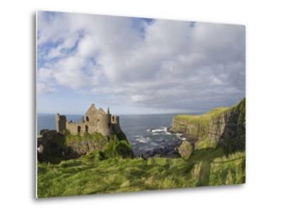 Ruins of 13th Century Medieval Dunluce Castle-Rich Reid-Metal Print