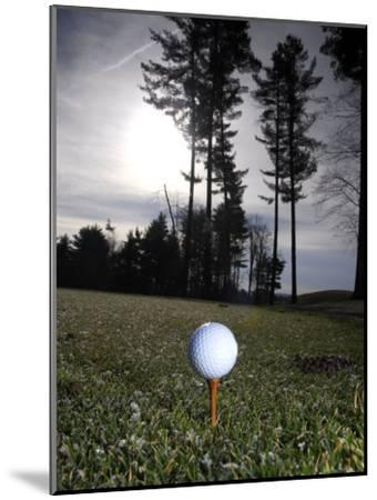 Golf Ball on a Tee at Twilight-Raul Touzon-Mounted Photographic Print