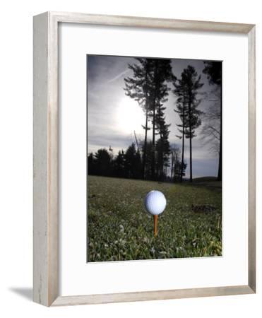 Golf Ball on a Tee at Twilight-Raul Touzon-Framed Photographic Print