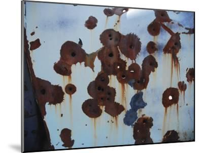 Bullet Holes in an Old Abandoned Car in Death Valley, Ca-Raymond Gehman-Mounted Photographic Print