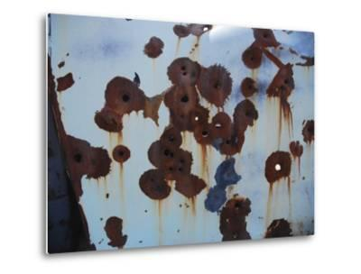 Bullet Holes in an Old Abandoned Car in Death Valley, Ca-Raymond Gehman-Metal Print