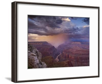 Monsoon Storm in the Grand Canyon-David Edwards-Framed Photographic Print