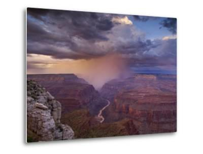 Monsoon Storm in the Grand Canyon-David Edwards-Metal Print