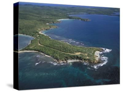 Aerial View of the East End of Vieques Island, Puerto Rico-Scott Warren-Stretched Canvas Print