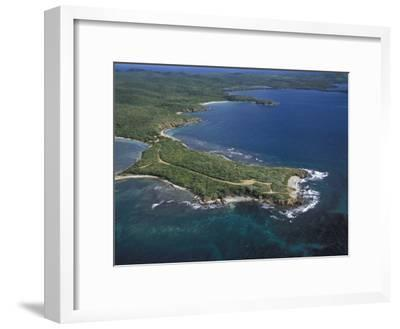 Aerial View of the East End of Vieques Island, Puerto Rico-Scott Warren-Framed Photographic Print