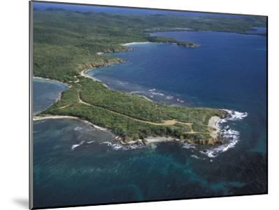 Aerial View of the East End of Vieques Island, Puerto Rico-Scott Warren-Mounted Photographic Print