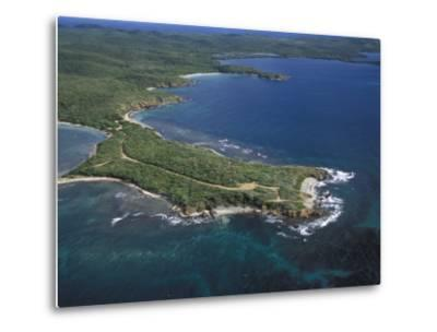 Aerial View of the East End of Vieques Island, Puerto Rico-Scott Warren-Metal Print