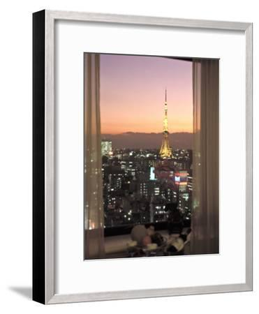 Night View of Tokyo Tower from Another Building-Richard Nowitz-Framed Photographic Print