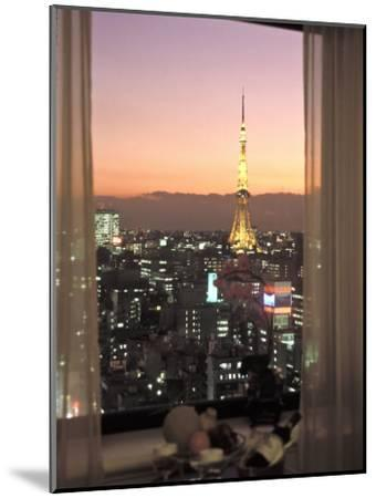 Night View of Tokyo Tower from Another Building-Richard Nowitz-Mounted Photographic Print