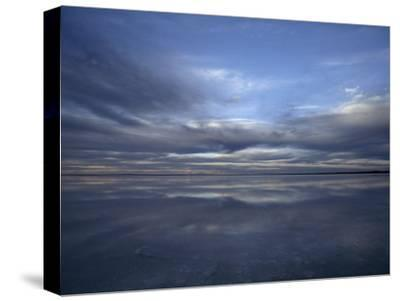 Fading Sunset Reflects Off the Still Surface of a Flooded Salt Lake-Jason Edwards-Stretched Canvas Print