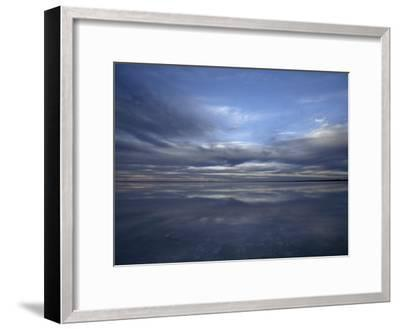 Fading Sunset Reflects Off the Still Surface of a Flooded Salt Lake-Jason Edwards-Framed Photographic Print