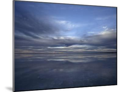 Fading Sunset Reflects Off the Still Surface of a Flooded Salt Lake-Jason Edwards-Mounted Photographic Print