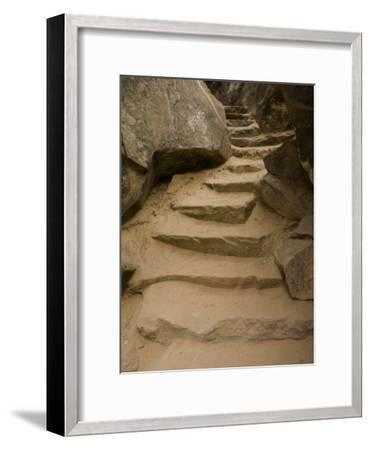 Stone Steps on Trail, Zion National Park, Utah, Monument Valley, USA-John Burcham-Framed Photographic Print
