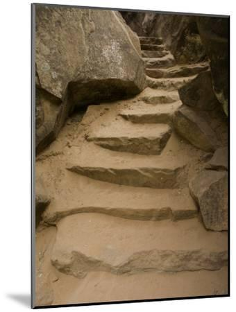 Stone Steps on Trail, Zion National Park, Utah, Monument Valley, USA-John Burcham-Mounted Photographic Print